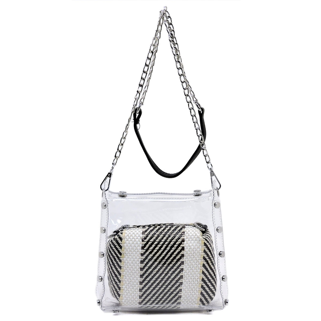 See Thru 2-in-1 Crossbody Bag - orangeshine.com