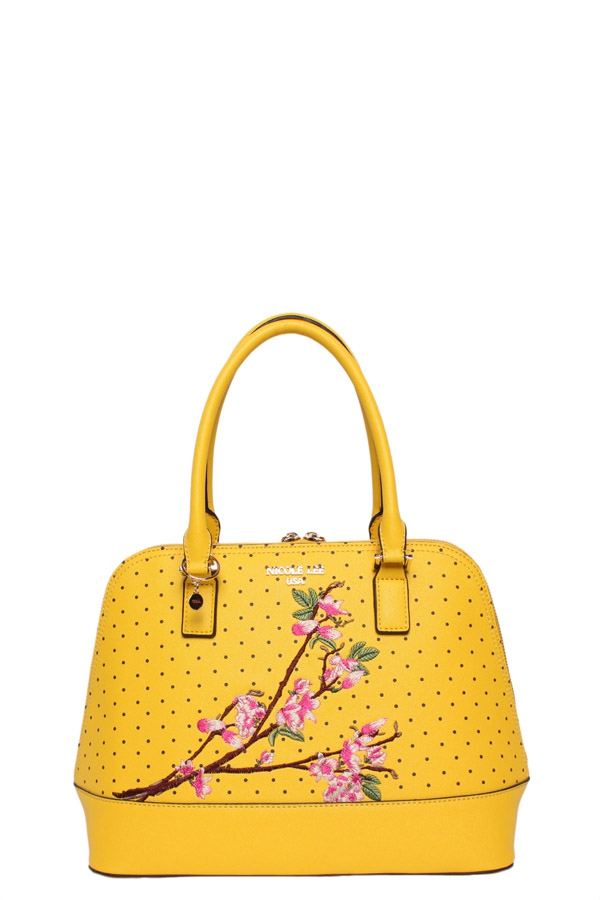 KAYLEY FLORAL EMBELLISHMENT DOME BAG - orangeshine.com
