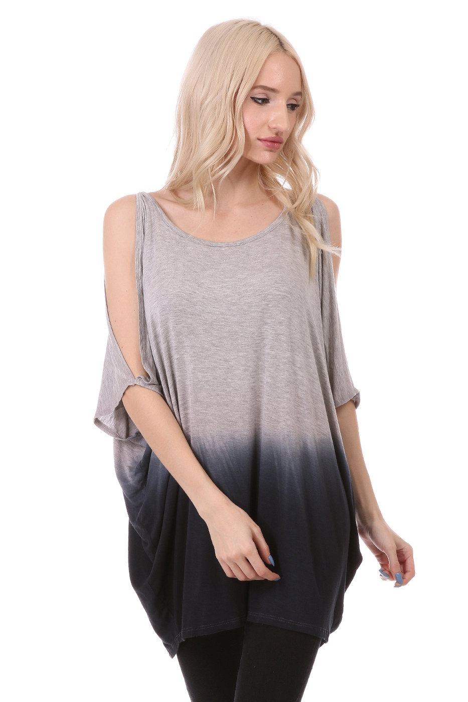 Cold Shoulder VISCOSE TOP - orangeshine.com