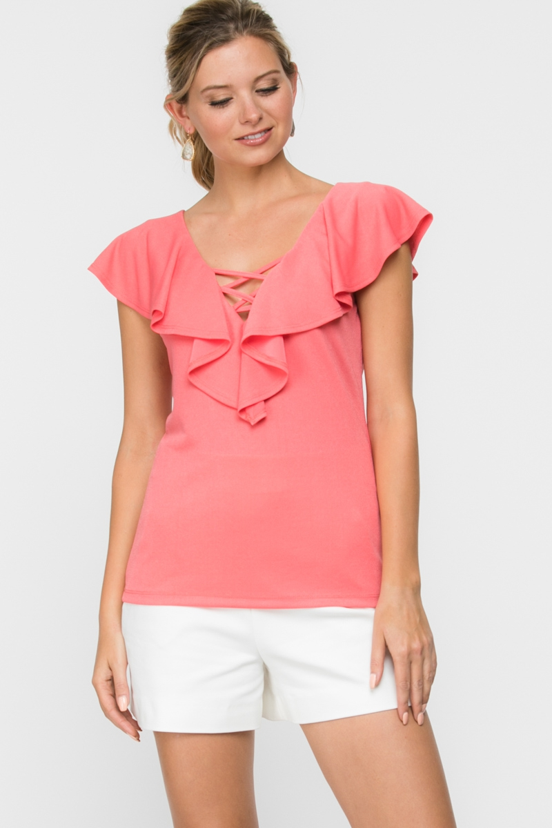 Sleeveless Solid Causal Top - orangeshine.com
