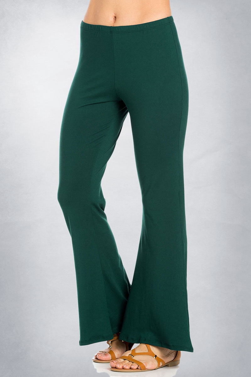 Bell Bottom Leg Pants - orangeshine.com