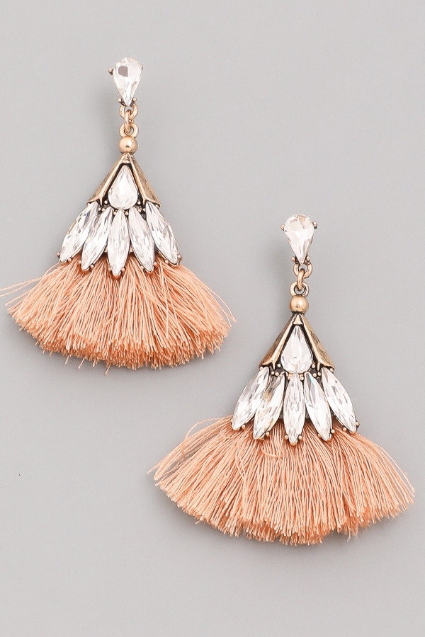 Jeweled Tassel Earring - orangeshine.com