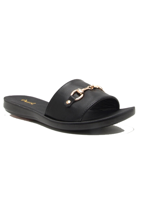 SLIP ON PU OPEN TOE FLAT SANDAL WITH - orangeshine.com