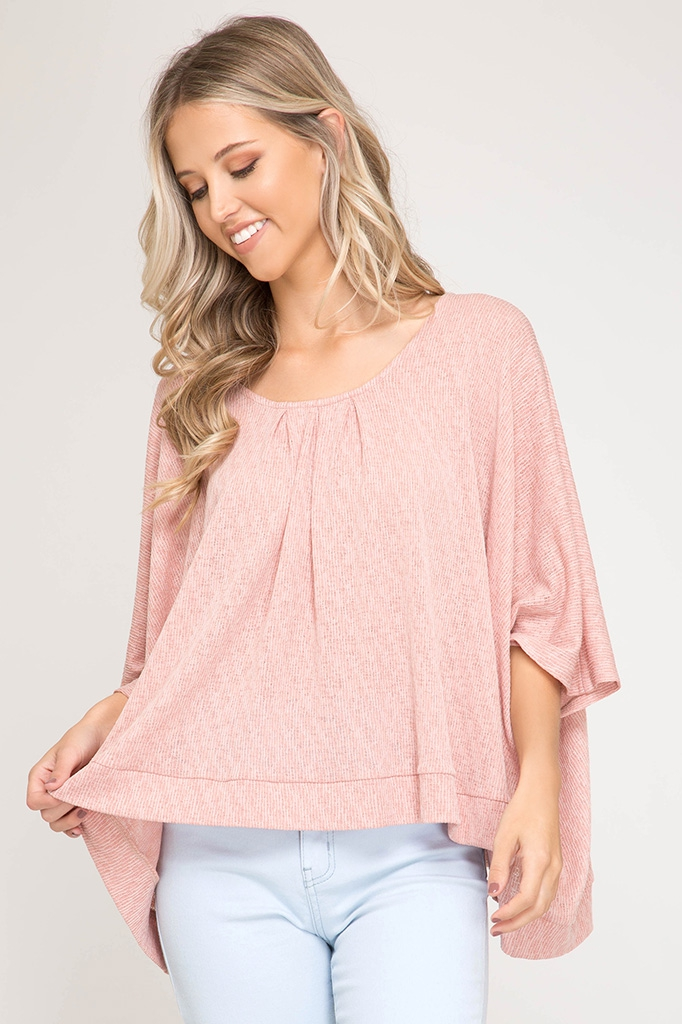 SL7248 - TEXTURED KNIT TOP  - orangeshine.com