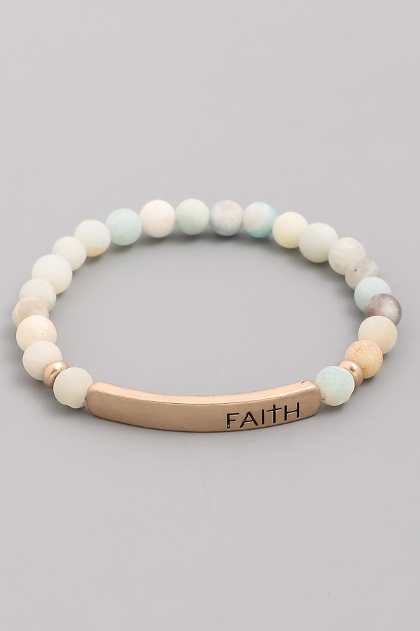 Faith Bar Stone Bracelet - orangeshine.com