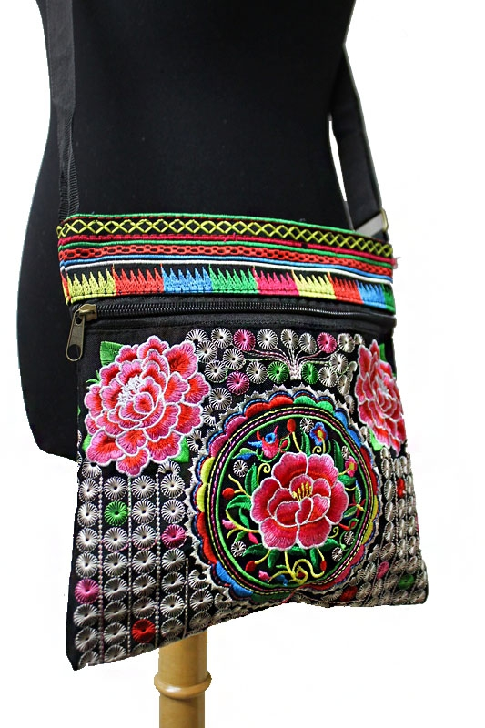 All Embroidered Crossbody Bag - orangeshine.com
