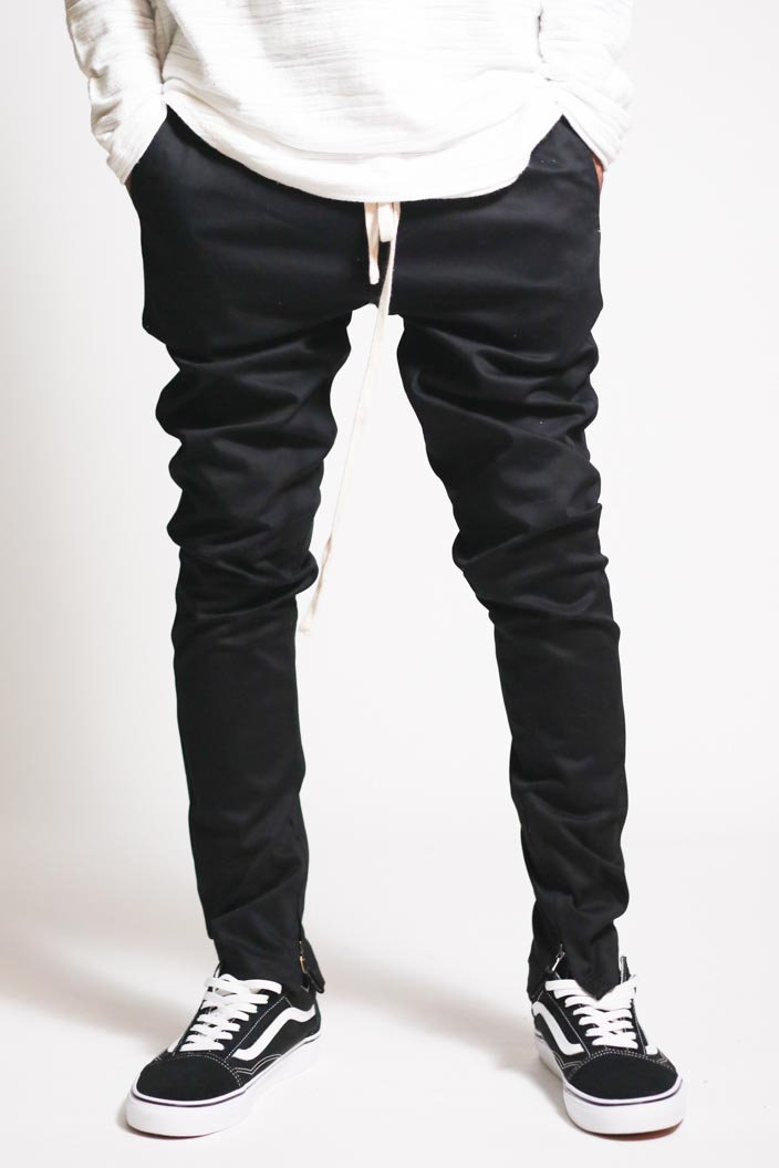 SKINNY ANKLE ZIP PANTS - orangeshine.com