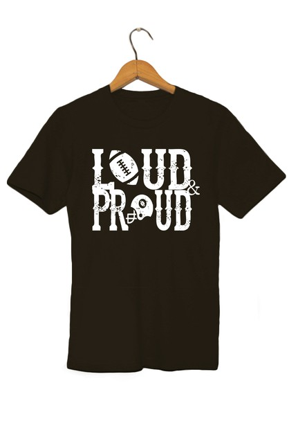 LOUD AND PROUD GRAPHIC TEE - orangeshine.com