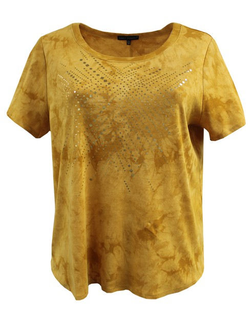 Tie-Dye Dark Yellow Tee Plus Size - orangeshine.com