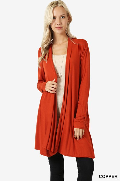 WIDE DRAPED CARDIGAN - orangeshine.com