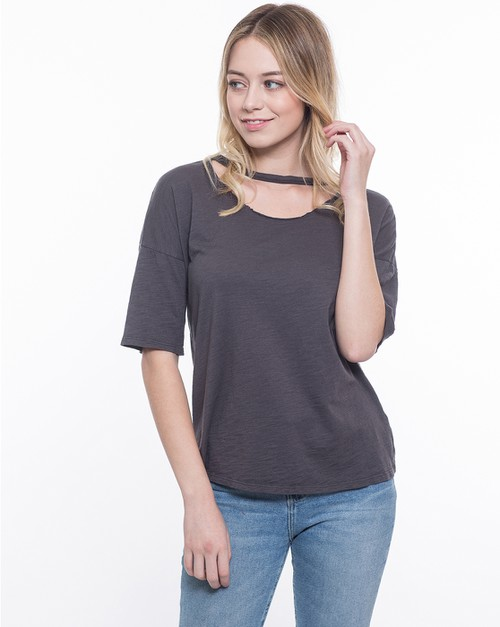 Attached Neck Choker Top - orangeshine.com