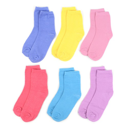 24 Pairs Solid Color Kids Socks - orangeshine.com