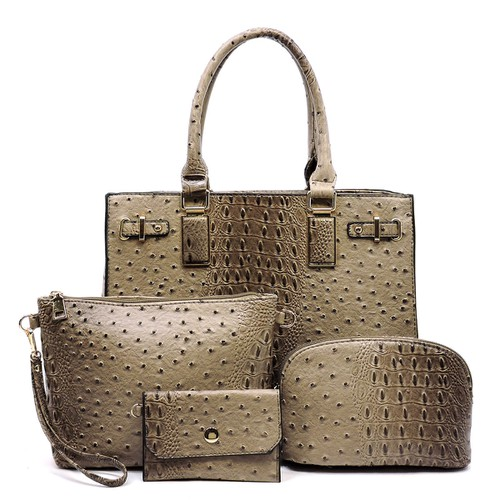 Ostrich Croc 4-in-1 Box Satchel - orangeshine.com