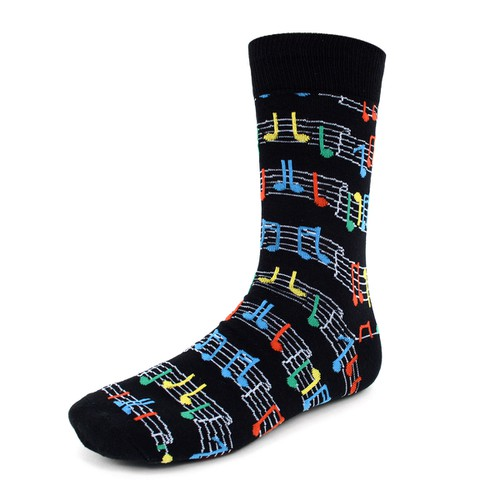 Men Music Sheet Novelty Socks - orangeshine.com