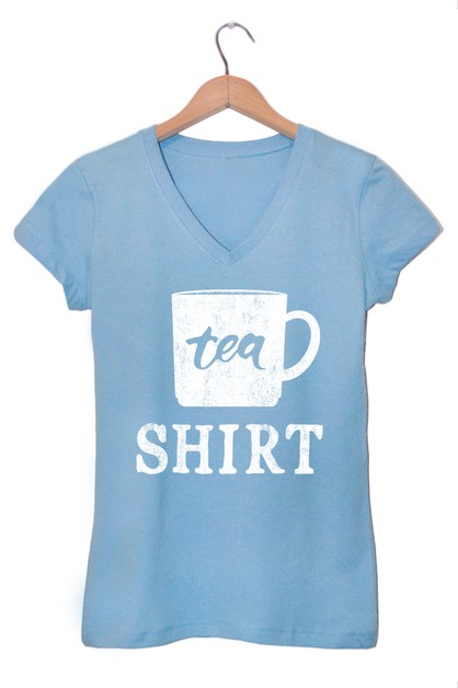 TEA SHIRT V NECK TEE - orangeshine.com