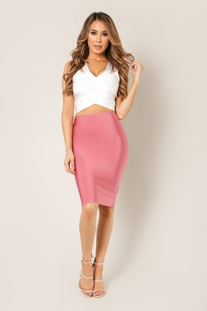 Pencil Bandage Skirt - orangeshine.com