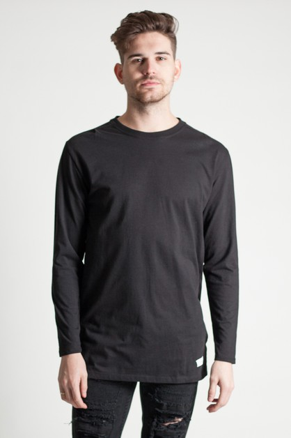 LONG SLEEVE SHOULDER PLEAT TEE - orangeshine.com