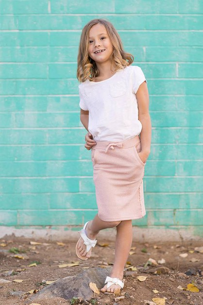 Zoey Skirt - Little Girl Pink Spark - orangeshine.com