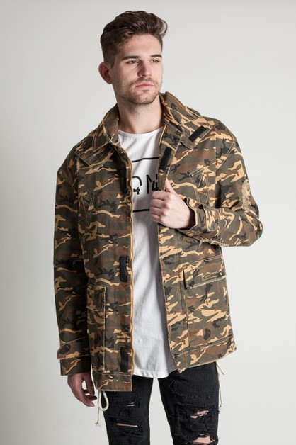 CAMO DETACHABLE HOODIE JACKET - orangeshine.com