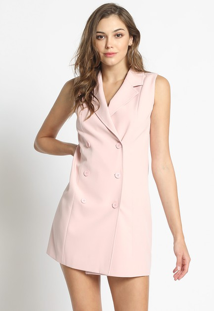 TAILORED VEST DRESS - orangeshine.com