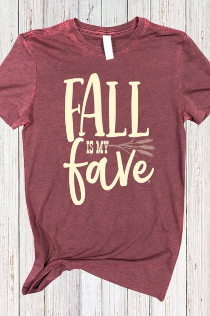 Fall Is My Fave Black Cherry Tee - orangeshine.com