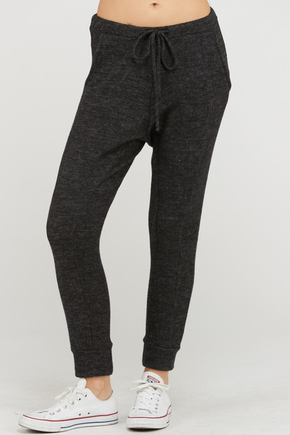LOW WAIST KNIT JOGGERS - orangeshine.com