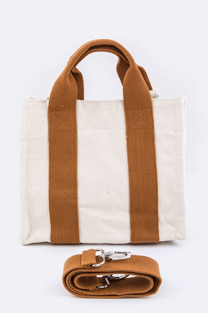 Convertible Canvas Tote - orangeshine.com