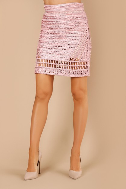 Knitted Crochet Skirt - orangeshine.com