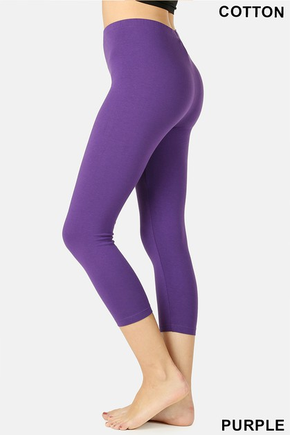 PREMIUM COTTON CAPRI LEGGINGS - orangeshine.com