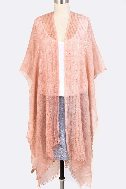 Lurex Mix Long Cardigans - orangeshine.com