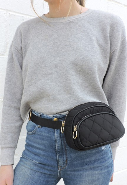 Quilted Festival Belt Bag - orangeshine.com