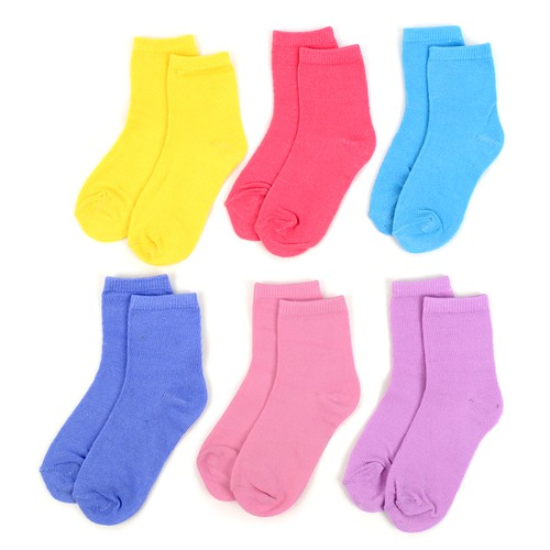 24 Pairs Solid Color Toddler Socks - orangeshine.com