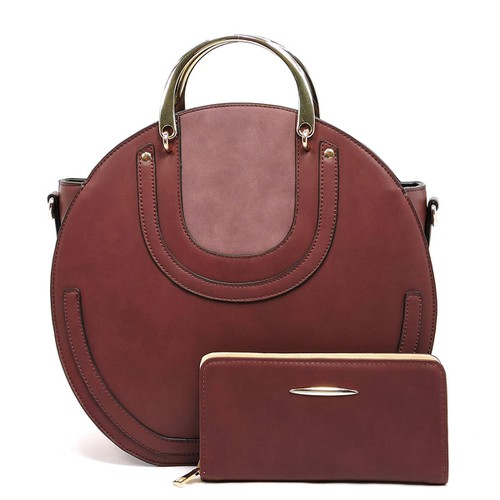 Fashion 2-in-1 Round Satchel - orangeshine.com