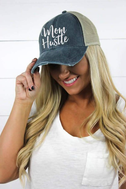 MomHustle2-Hat - orangeshine.com