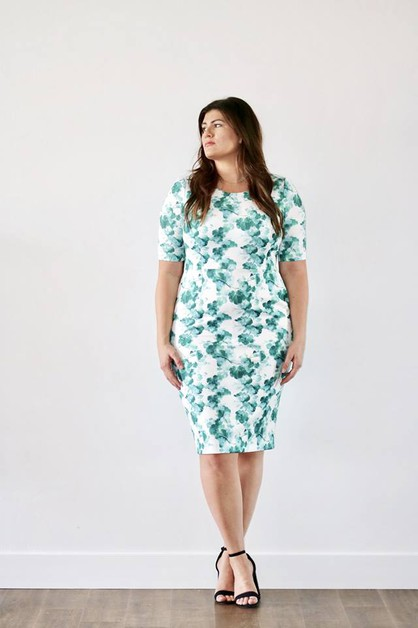 Maren Dress - Blue Green Pock Plus - orangeshine.com
