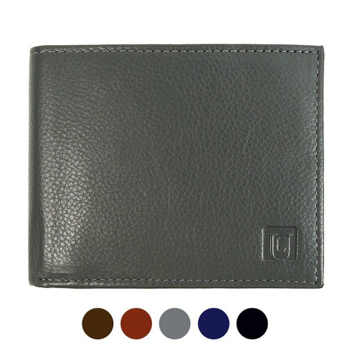 RFID Genuine Leather Bi-Fold Wallet - orangeshine.com