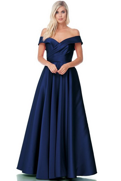 Off Shoulder Evening Dress - orangeshine.com