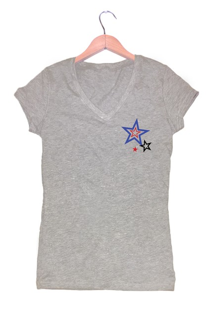 STAR COLLECTION V NECK TOP - orangeshine.com