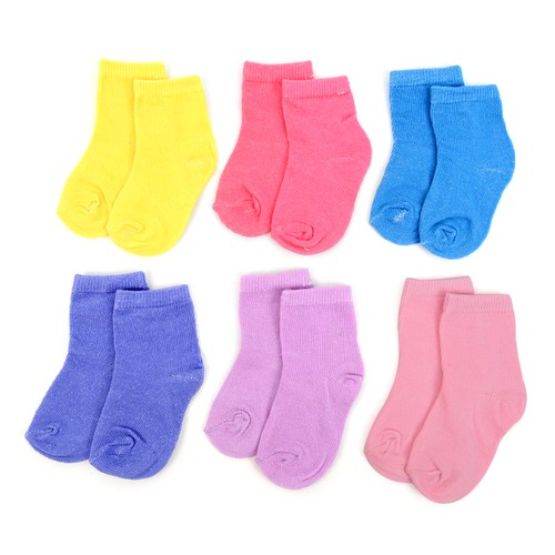 24 Pairs  Solid Color Infant Socks - orangeshine.com