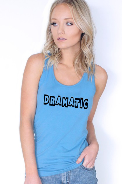 DRAMATIC TANK TOP - orangeshine.com