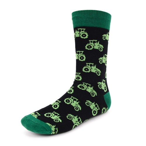 Men Tractor Novelty Socks - orangeshine.com