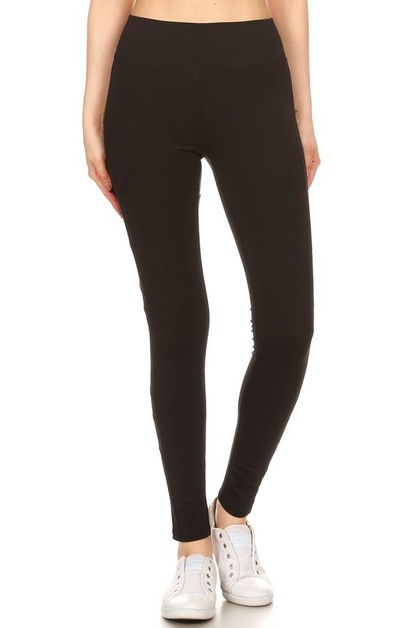 Active Mesh Panel Workout Yoga Pants - orangeshine.com