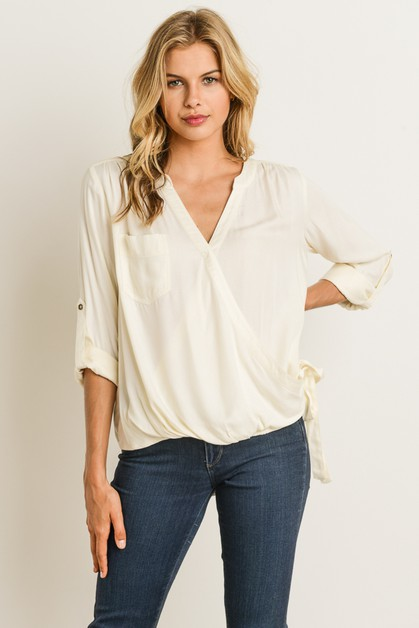 Faux Wrap Top - orangeshine.com