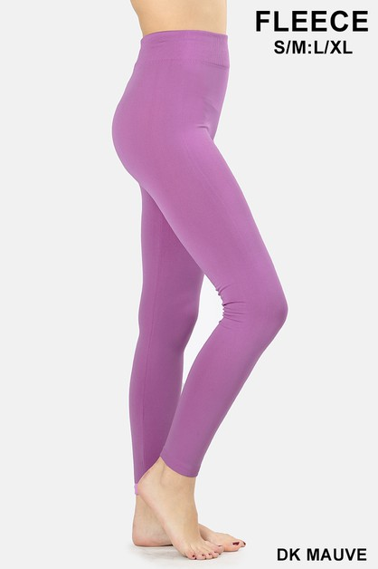 SEAMLESS FLEECE LEGGINGS - orangeshine.com
