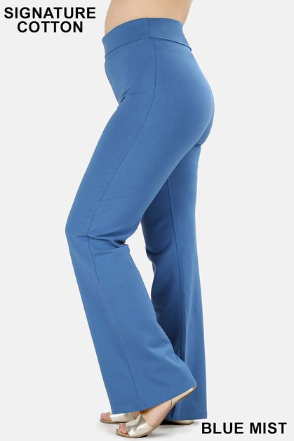 PLUS FOLD-OVER YOGA PANTS - orangeshine.com