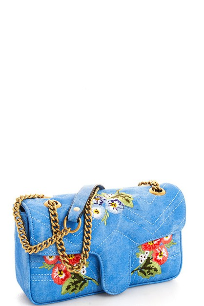 Embroidered Crossbody Bag - orangeshine.com