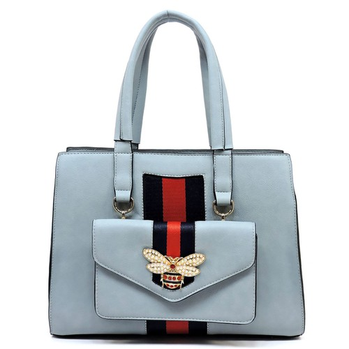 Fashion Stripe 2-in-1 Boxy Satchel - orangeshine.com