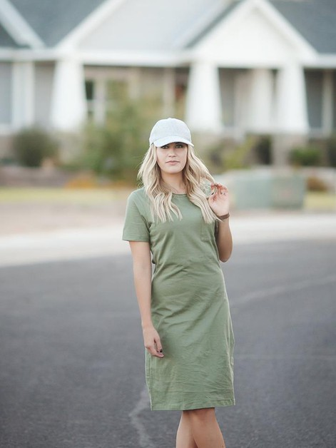 Kenna Kay Dress - Olive - orangeshine.com