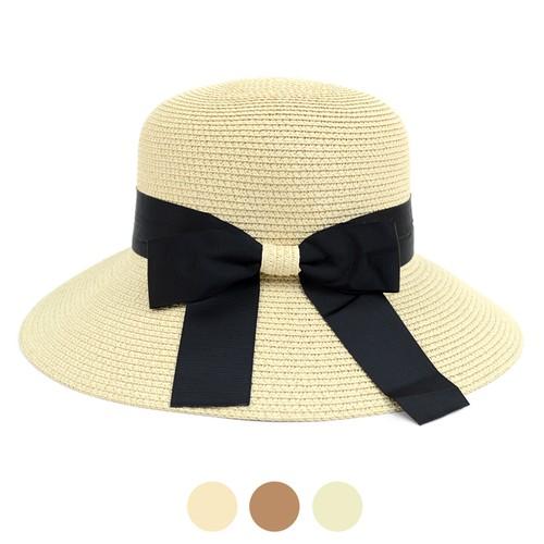Women Floppy Sun Hat Ribbon Bow-knot - orangeshine.com
