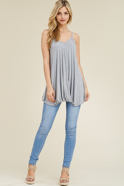 SLEEVELESS TOP FT FRONT KNOT DETAIL - orangeshine.com